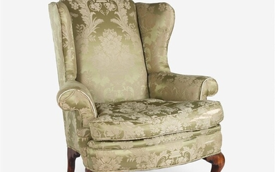 Queen Anne carved walnut easy chair Probably 19th century...