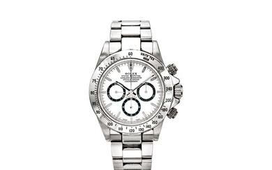 ROLEX | REF 16520/16500 DAYTONA ROLEX 24, A STAINLESS STEEL AUTOMATIC CHRONOGRAPH WRISTWATCH GIVEN TO THE GRAND MARSHAL DAVID E. DAVIS JR. AT THE DAYTONA 2000, CIRCA 1998