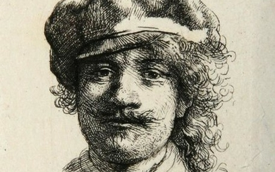 Rembrandt, Durand, Self-Portrait Wearing a Soft Cap,