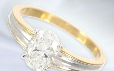 Ring: exquisite, modern and very high-quality diamond lady's ring, approx. 1.25ct