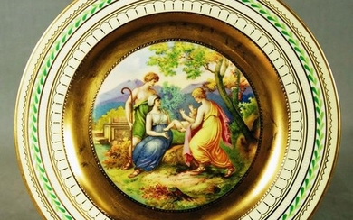 """Royal Vienna Plate Titled """"The Young Virgil"""""""
