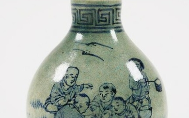 Signed Chinese Painted Porcelain Snuff Bottle