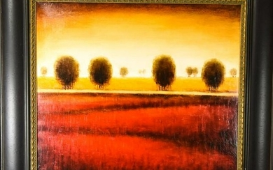 Signed Contemporary Style Landscape Scene Painting