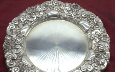 Silver Salver Tray with 3 footer 1887-1937 (1) - .833 silver - 1887-1937