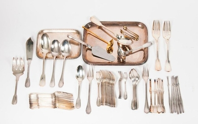 Silver plated metal cutlery set
