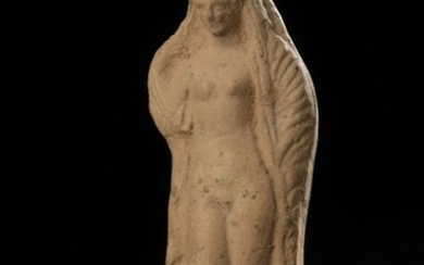 Statuette in high relief representing the goddess Aphrodite standing revealing her nakedness.
