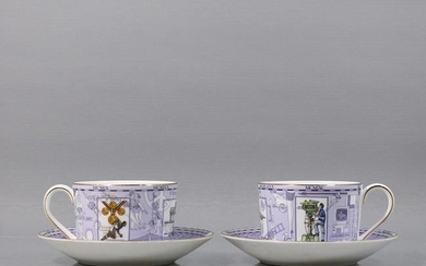 Two [2] Wedgwood Millennium c. 1999 Cups & Saucers