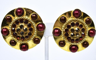 Vintage French Dominique Aurientis Clip on Earring