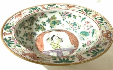 Vintage Painted Asian Bowl