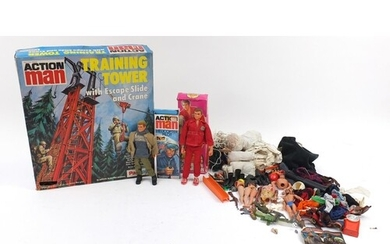 Vintage action figures and accessories including Action Man ...