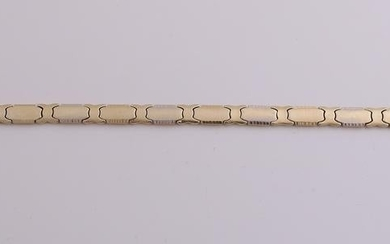 Wide yellow golden bracelet, 585/000, with pins having