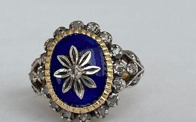 18 kt. Silver, Yellow gold - Ring - 0.50 ct Diamond