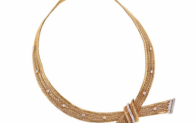 18kt Gold and Diamond Necklace, Kutchinsky