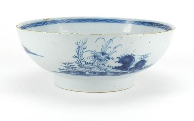 18th century English Delft bowl, hand painted in the