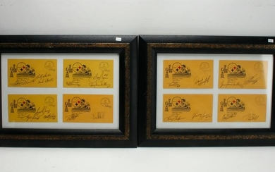 2 PITTSBURGH STEELERS 1980 SUPER BOWL SIGNATURES