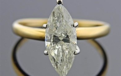 2.00ct Marquise Diamond 14k Gold Engagement Ring