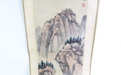 A Chinese Ink Scroll Painting of Flowers and Birds (Image Length 33cm)