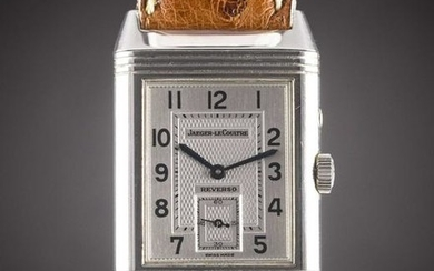 A GENTLEMAN'S STAINLESS STEEL JAEGER LECOULTRE REVERSO