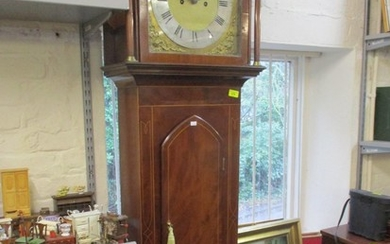 A George III mahogany long case clock with plaque inscribed ...