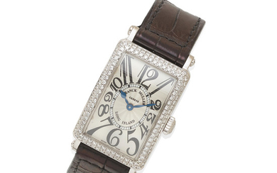 A Lady's Diamond and 18k White Gold Long Island Wristwatch, Franck Muller