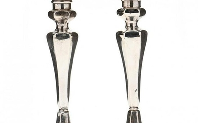 A Pair of Gorham Sterling Silver Candlesticks