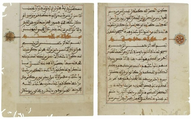 A QURAN SECTION IN MAGHRIBI SCRIPT, NORTH AFRICA OR