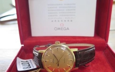 A gents Omega Geneve wristwatch in running order, steel and ...