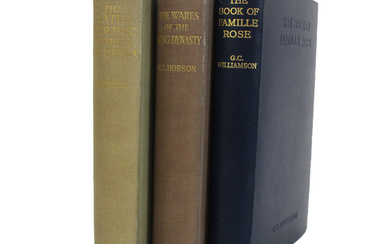 A group of three reference books on Chinese art