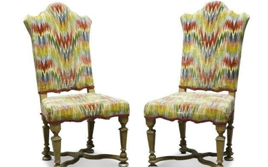 A pair of Continental side chairs, 19th...