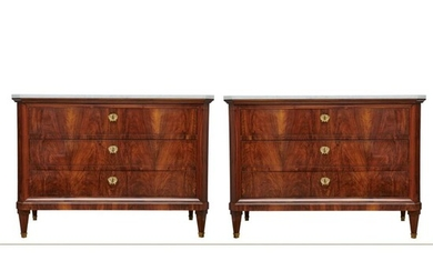 A pair of Italian sideboards with drawers, early 19th century