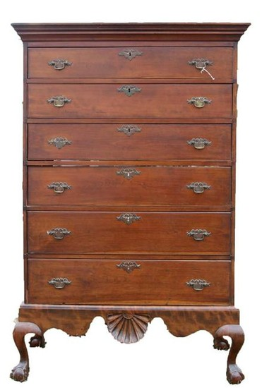 AMERICAN ANTIQUE SOUTHERN TALL CHEST ON FRAME