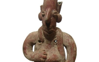 An attractive Jalisco figure of a seated man