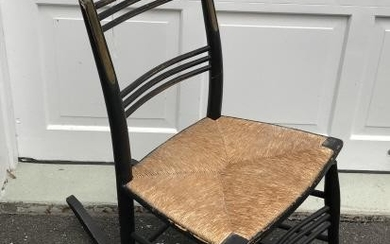 Antique 19th C American Ladder Back Rocking Chair