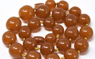 Antique Butterscotch Baltic Amber Beads Necklace