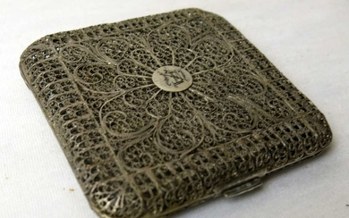 Antique and High Quality Filigree Silver Box