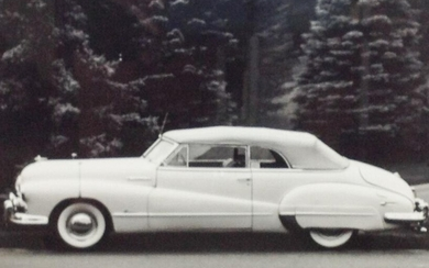 Black and White Photo of a vintage car