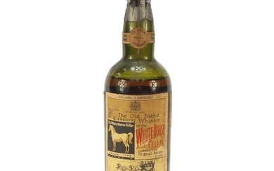 Bottle of 1937 White Horse whisky, numbered L1440097
