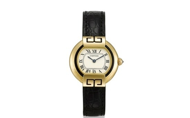CARTIER | ELLIPSE, REFERENCE 1480 A YELLOW GOLD WRISTWATCH, CIRCA 2000