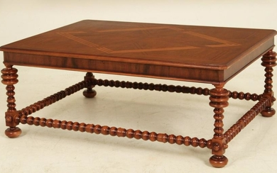 CONTINENTAL STYLE WALNUT LOW TABLE