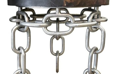 Contemporary Modern Chain Link Side Table