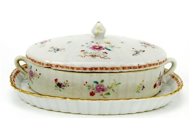Chinese Export Covered Dish and Under Plate