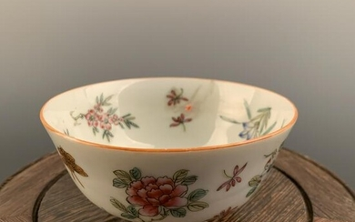 Chinese Famille Rose Flower Bowl