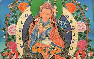 Chinese Thangka Painting of Padmasambhava