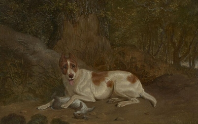Circle of Charles Towne, British 1763-1840- Dog with a hare...
