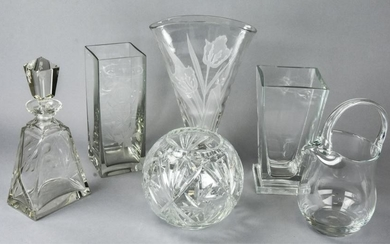 Collection Etched Glass Tabletop Items