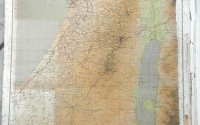 Collection of 32 Old Maps of Israel, Mandate Period up to Early 1950s