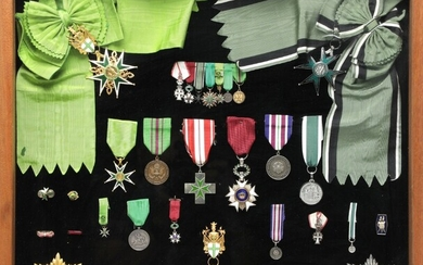 NOT SOLD. Collection of orders and medals, incl. Military and Hospitaller Order of Saint Lazarus...
