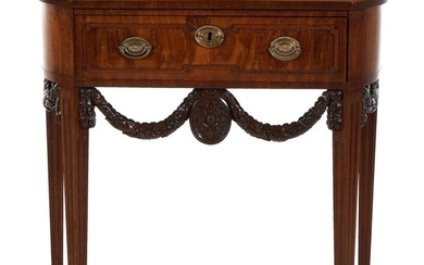 Dutch carved mahogany side table