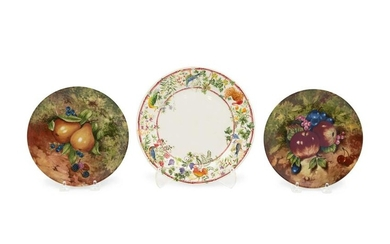 Eight Limoges Polychrome Decorated Porcelain Fruit