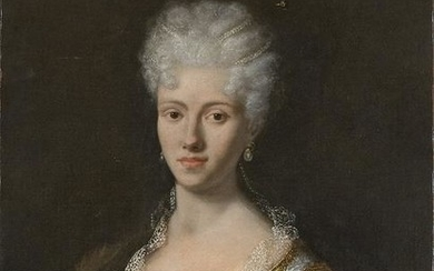 FRENCH PAINTER, 18th CENTURY - Portrait of a young lady